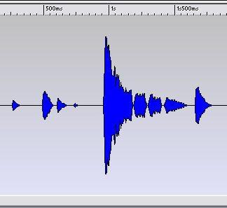 Wllenform einer Audiodatei